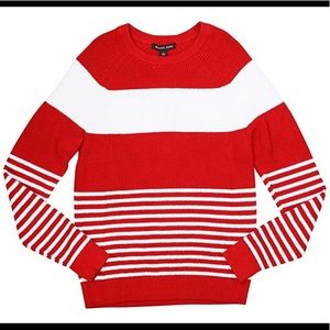 Michael Kors Striped Sweater Red/White